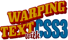 HTML text warping